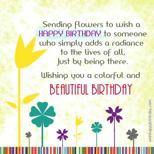 Tags flowers birthday greetings send your birthday wishes for a good day and a happy life to your friends and family members with this cute flower greeting card m4hsunfo