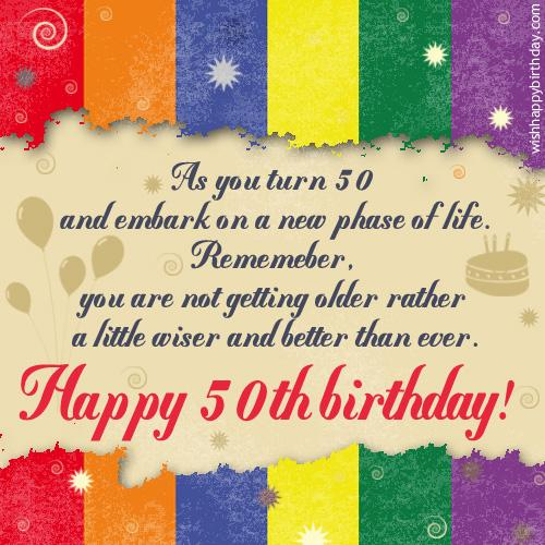 50th Birthday Is Not Only About Getting Older It Also Talks A Lot Of Life Experiences That One Has Met With Till Date Embarking On The Age