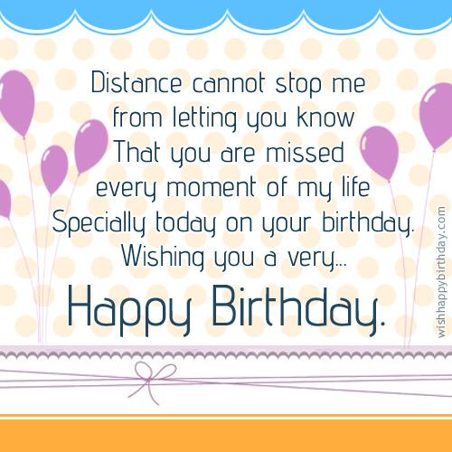 Tags miss you birthday wishes however do not let your heart felt wishes miss reaching them send this birthday greeting to let your loved one and let m4hsunfo